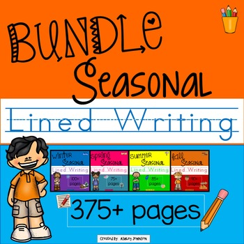 Seasonal Lined Writing Paper Winter, Spring, Summer, and F