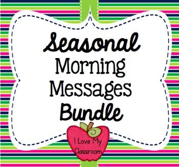 Seasonal Morning Messages Bundle {Community Building Prompts}
