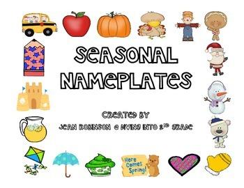 Seasonal Name Plates