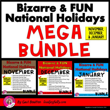Seasonal National Holiday MEGA BUNDLE (November, December