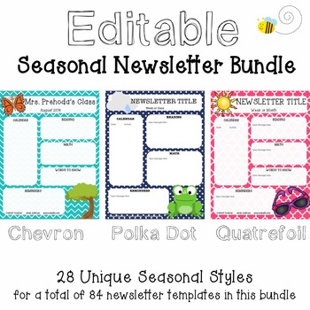 Seasonal Newsletter Bundle