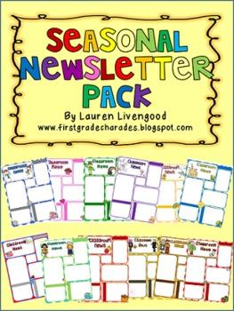 Seasonal Newsletter Pack - Editable