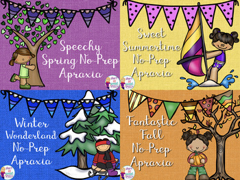 Seasonal No-Prep Apraxia Bundle for the Year