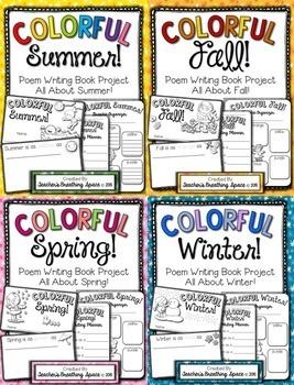 Seasonal Poem Writing -- Colorful Seasons Poetry Books --