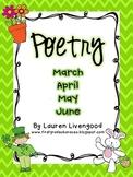 Seasonal Poetry - March, April, May, June!