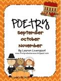 Seasonal Poetry - September, October, November!