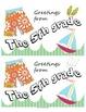 Seasonal Postcard Templates - 5th grade!