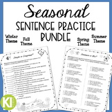 Seasonal Bundle for Simple, Compound & Complex Sentences -