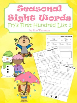 Seasonal Sight Words ~ Fry's First Hundred List 1