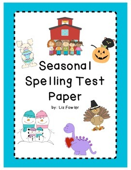 Seasonal Spelling Test Paper