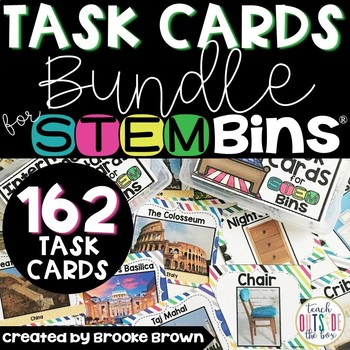 #falloween Seasonal Task Cards for STEM Bins {GROWING MINI