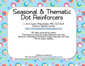 Seasonal & Thematic Dot Reinforcers