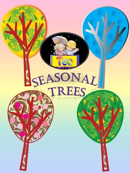 Seasonal Trees - Clip Art - Fall - Winter - Spring - Summer