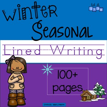 Seasonal Winter Lined Writing Paper