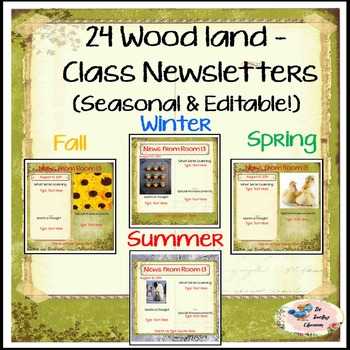 Seasonal Woodland Newsletters -  A Newsletter for your cla