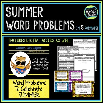 Seasonal Word Problem Collection: Summer Grades 3-5