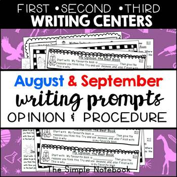 Seasonal Writing Prompts: Opinions and Procedures (Aug & Sept)