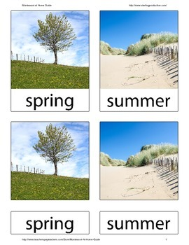 Seasons 3-part Nomenclature Cards for the Montessori Homeschool