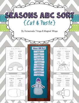 Seasons ABC Sort {cut & paste} K - 2nd