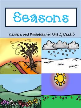 Seasons, Centers and Printables, Journeys, Unit 3, Week 3