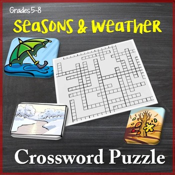 Seasons, Climate, and Weather Crossword Puzzle
