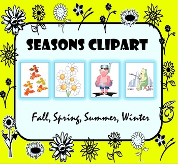 Seasons of the Year Clipart Images: Fall, Spring, Summer, Winter