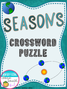 Seasons Crossword Puzzle Activity