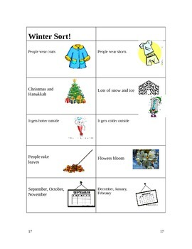 Seasons Lesson Plans
