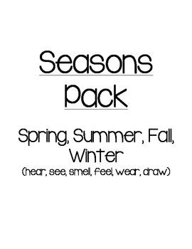 Seasons Pack  Spring, Summer, Fall, Winter (hear, see, sme