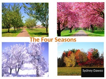 Seasons Powerpoint with Art Activity