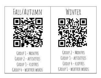 Seasons QR Code and Group Work