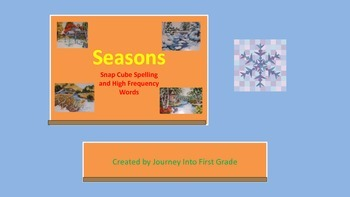 Seasons Snap Cube Spelling and High Frequency Words