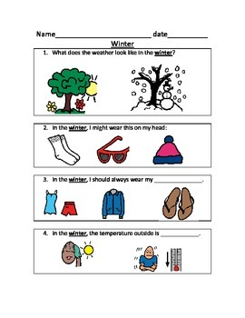 Seasons Sort and Quizzes