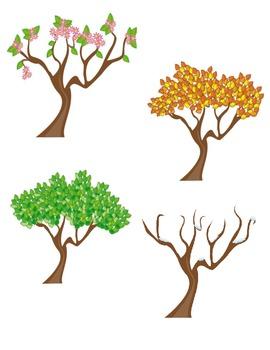 Seasons (Trees) Clipart