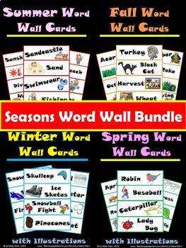 Seasons Word Wall Cards Bundle