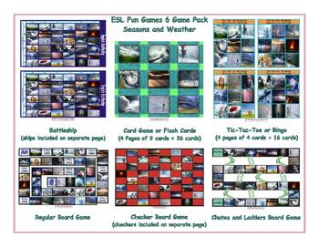 Seasons and Weather 6 Board Game Bundle