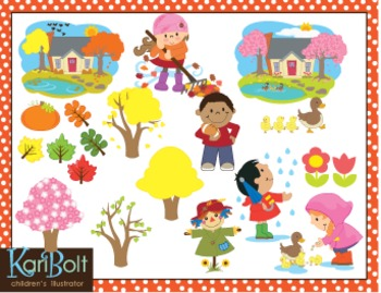 Seasons and Weather Bundle Clip Art