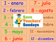 Seasons in Spanish Lesson plan, PowerPoint (with audio) Fl