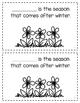 Seasons of the Year Interactive Mini Books
