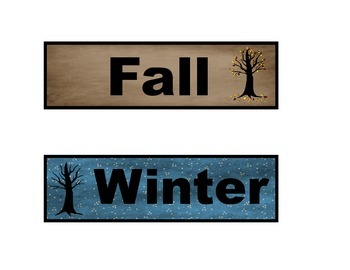 Seasons of the Year in a Forest or Woodland Theme