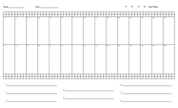 Seating Chart - 30 students