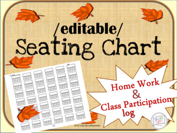 Seating Chart Editable,  HW Log