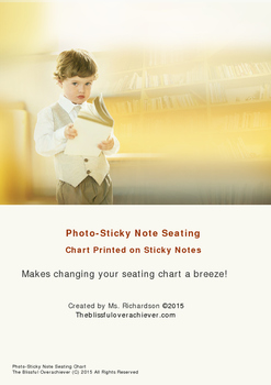 Seating Chart--Photo Sticky Note Template