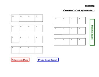 Seating Chart for MS Word