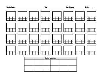 Seating Chart (up to 32 students)