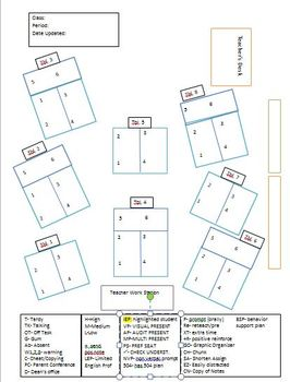 Seating Chart with Codes