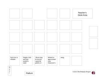 Seating Chart with Editable Desks