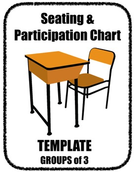Seating Participation Attendance Chart - Groups of 3