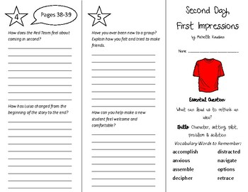 Second Day First Impressions Trifold - Wonders 5th Grade U