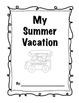 Second Grade Back to School Summer Vacation pack